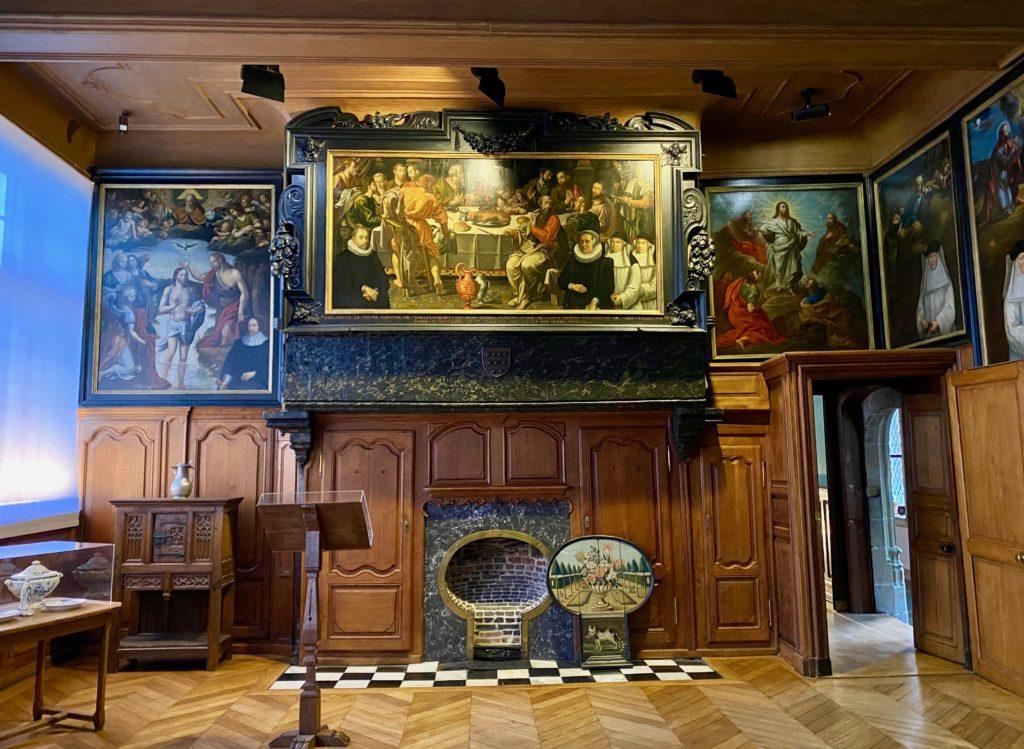 Hopital-Notre-Dame-a-la-Rose-Lessines-tableaux-refectoire