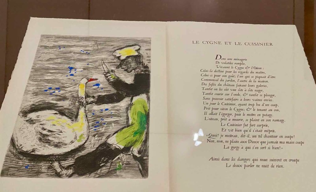 Musee-Matisse-Le-Cateau-Fables-La-Fontaine-illustrees-par-Marc-Chagall-salle-Teriade