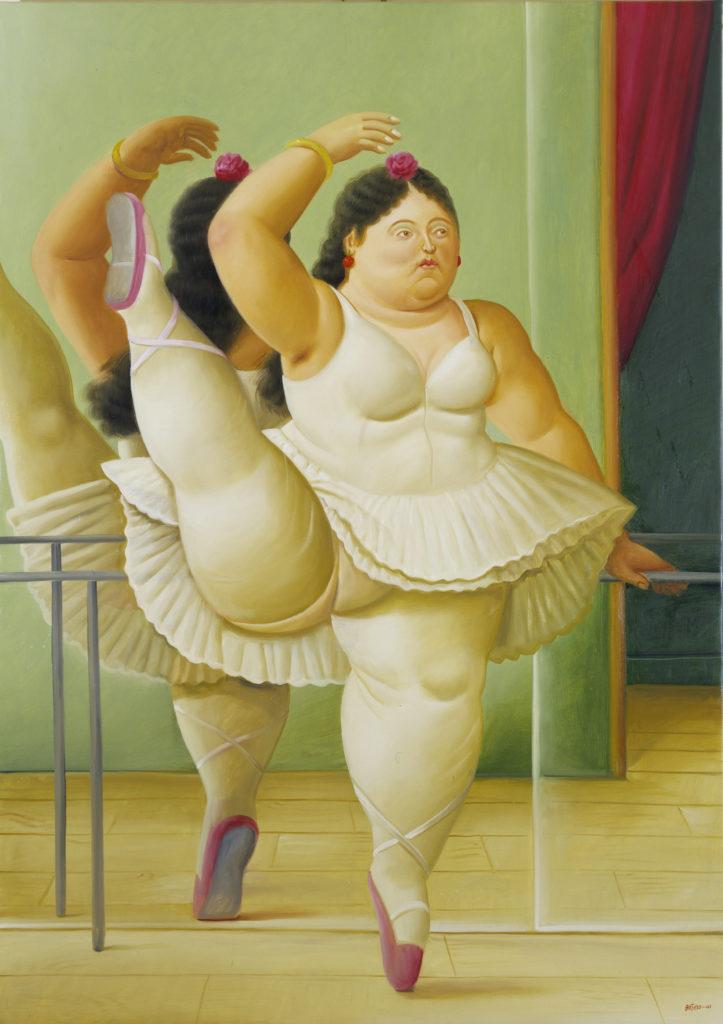 Fernando-Botero-Danseuse a la barre- 2001