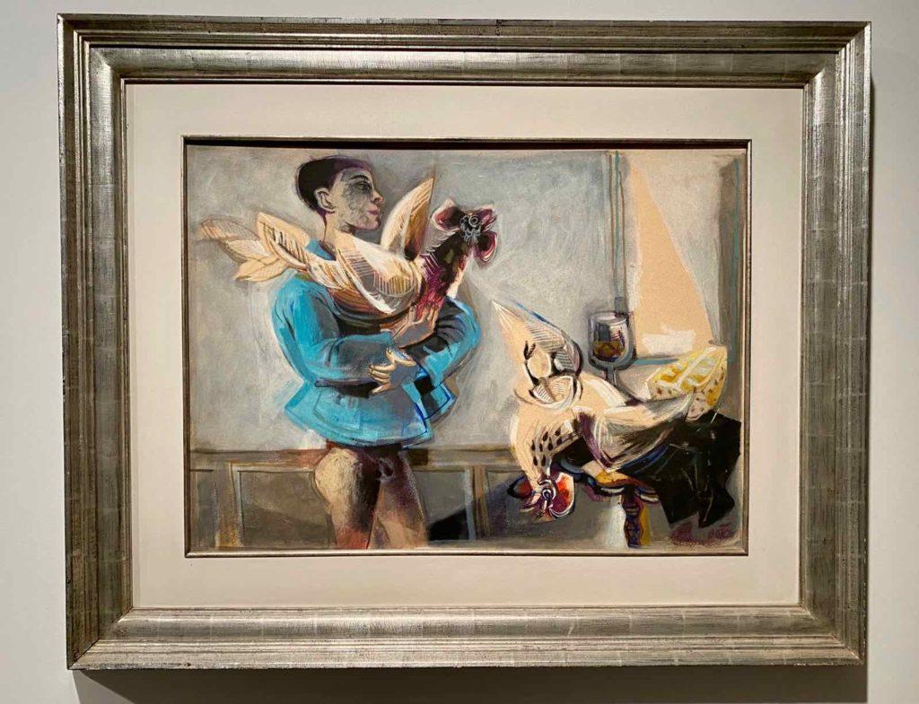 Fernando-Botero-Garcon-et-coq-1956-Collection-Forum-Artis-GmbH-Vienne
