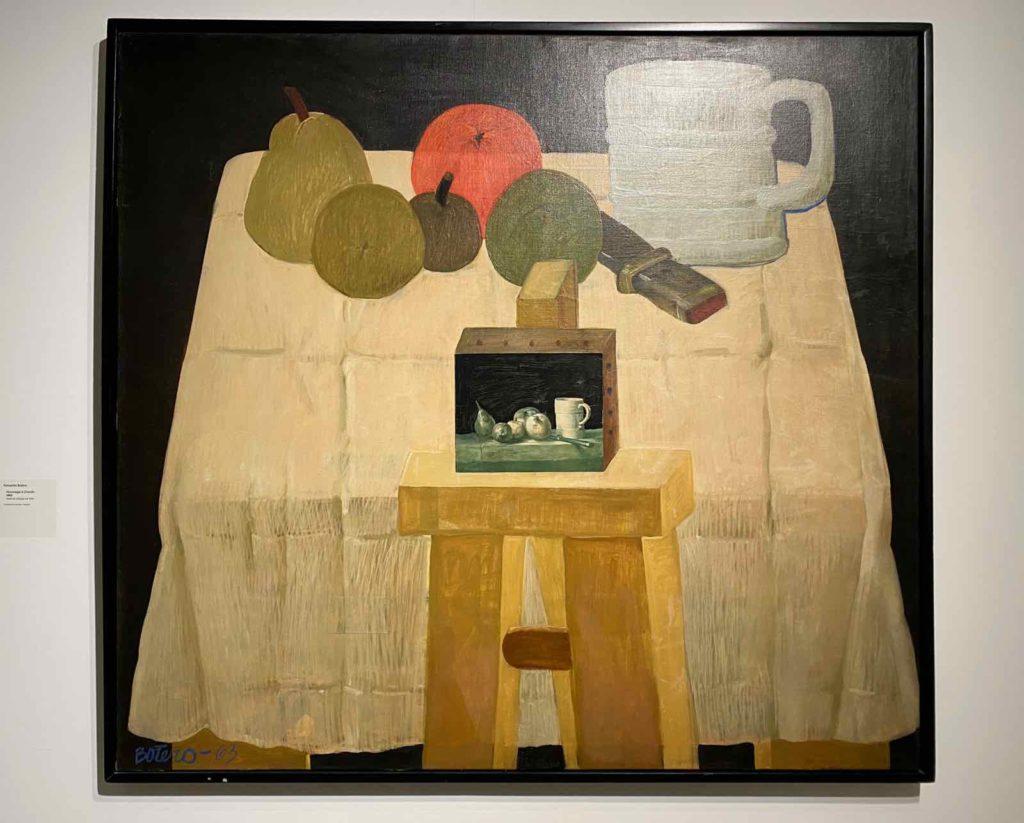 Fernando-Botero-Hommage-a-Chardin-1963-Fundacion-Llorente-Bogota-expo-BAM-Mons