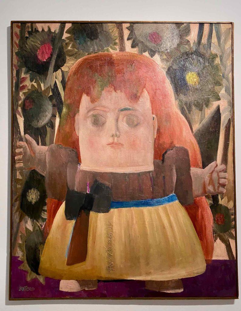 Fernando-Botero-Jeune-fille-perdue-dans-un-jardin-1959-collection-privee-expo-BAM-Mons