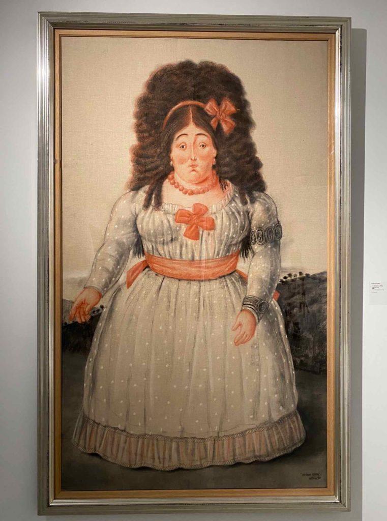 Fernando-Botero-La-Duchesse-d-Albe-d-apres-Goya-1998-collection-privee-expo-BAM-Mons