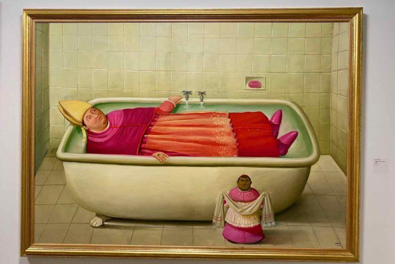 Fernando-Botero-La-salle-de-bain-du-Vatican-2006-Collection-privee