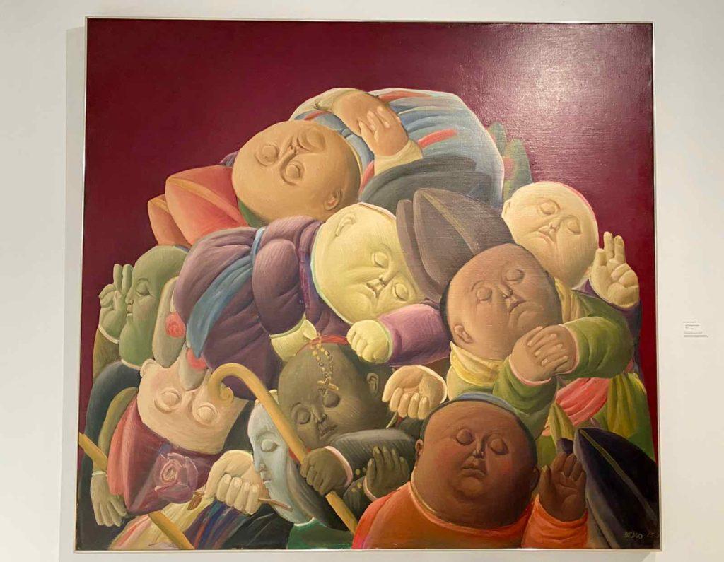 Fernando-Botero-Les-Eveques-morts-1965-Pinakothek-der-Moderne-Munich-expo-BAM-Mons