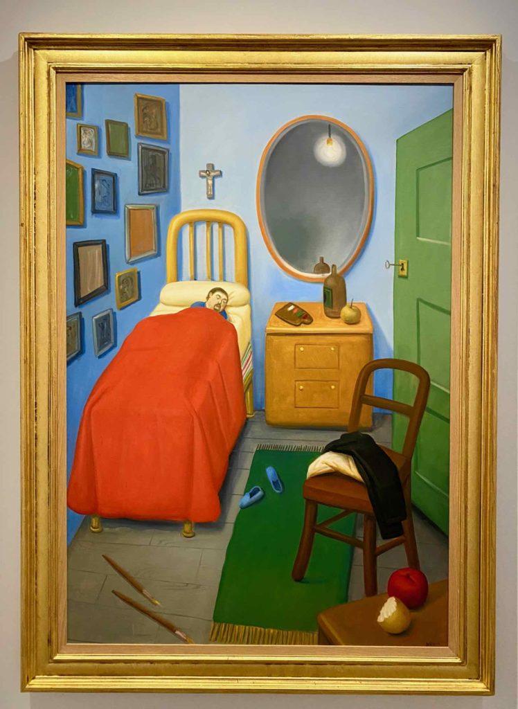 Fernando-Botero-Ma-Chambre-a-Medellin-d-apres-Van-Gogh-2011-collection-privee-expo-BAM-Mons