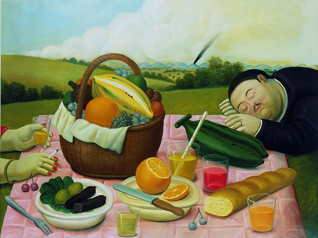 Fernando-Botero-Pique-nique- 1989-Collection-privee-expo-BAM-Mons