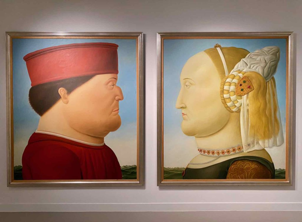 Fernando-Botero-d-apres-Piero-della-Francesca-Double-Portrait-des-ducs-d-Urbino-1998-collection-privee-expo-BAM-Mons