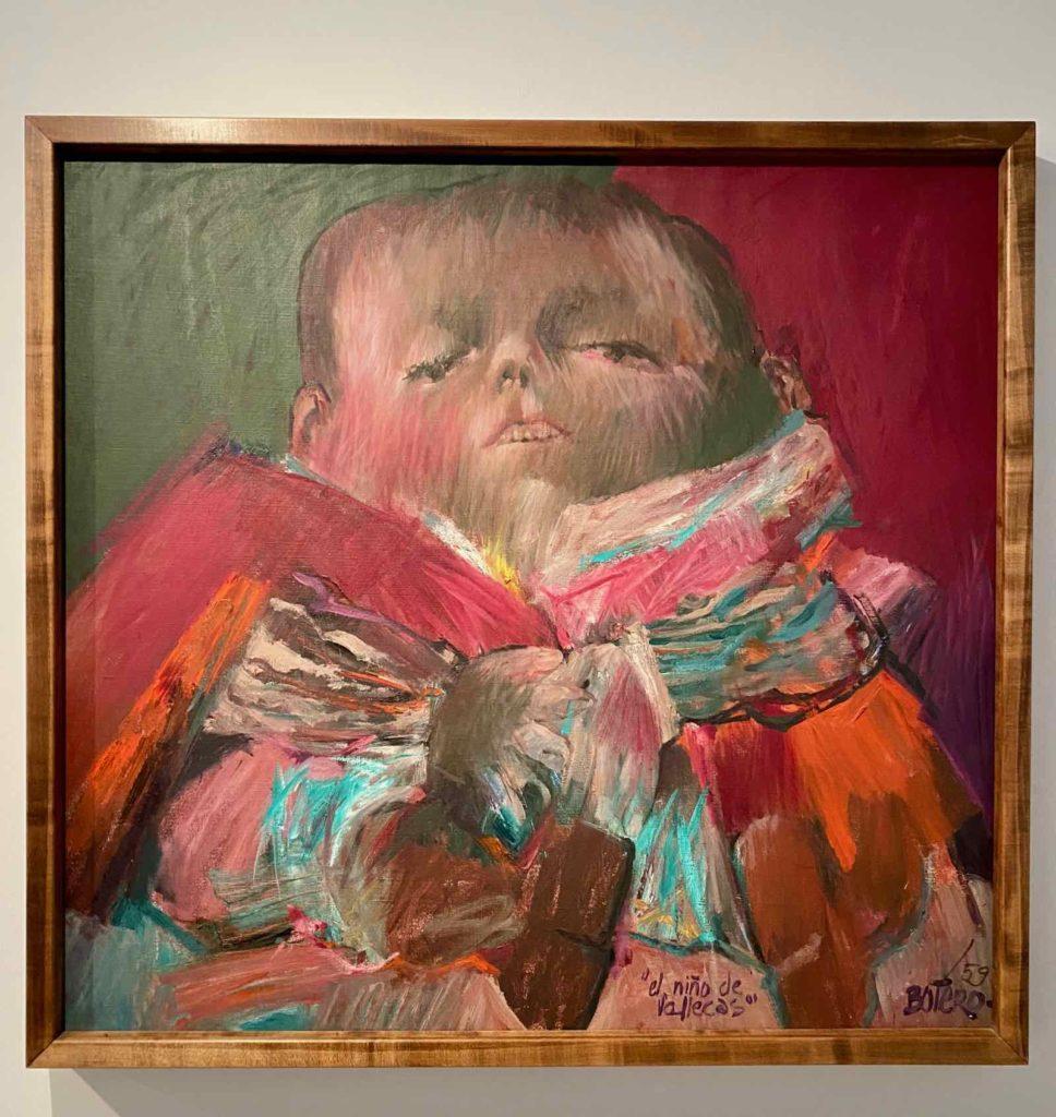 Fernando-Botero-d-apres-Velazquez-Francisco-Lezcano-L-Enfant-de-Vallecas-1959-collection-privee-expo-BAM-Mons